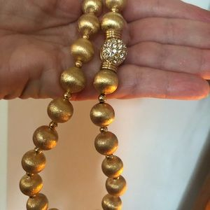Jewelry - Gold bead necklace and earrings